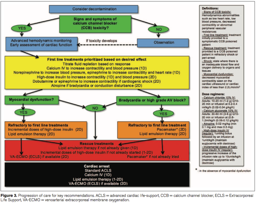 Experts Consensus Recommendations for the Management of Calcium Channel Blocker Poisoning in Adults, www.ccmjournal.org